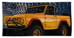 69 Ford Bronco 4x4 Restoration Beach Sheet