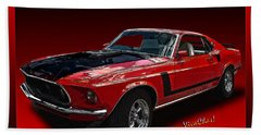 69 Mustang Mach 1 Beach Towel
