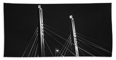 6th Street Bridge Black And White Beach Towel