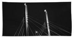 6th Street Bridge Black And White Beach Sheet