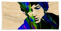 Bob Dylan Collection Beach Sheet by Marvin Blaine