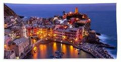 Beach Towel featuring the photograph Cinque Terre by Brian Jannsen