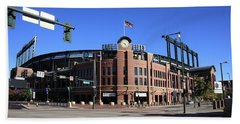 Coors Field - Colorado Rockies Beach Sheet by Frank Romeo