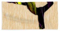Fitness Yoga Beach Towel by Marvin Blaine