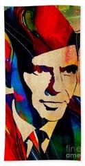 Frank Sinatra Art Beach Towel