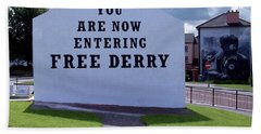 Free Derry Corner 4 Beach Towel