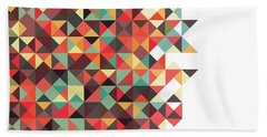 Geometric Art Beach Towel by Mike Taylor