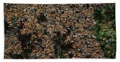 Monarch Butterflies Beach Sheet by Carol Ailles
