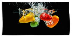 Splashing Paprika Beach Towel