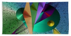 Abstract Bird Of Paradise Beach Towel