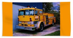 Beach Towel featuring the photograph 710 ....... Fire Dept. by Daniel Thompson