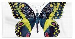 73 Citrus Butterfly Beach Towel