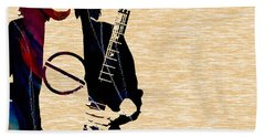 Eddie Van Halen Collection Beach Towel by Marvin Blaine