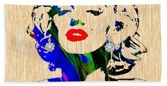 Marilyn Monroe Diamond Earring Collection Beach Towel