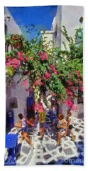 Mykonos Town Beach Towel