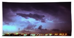 Our 1st Severe Thunderstorms In South Central Nebraska Beach Towel