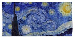 Starry Night Beach Sheet by Vincent Van Gogh