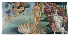 The Birth Of Venus Beach Towel by Sandro Botticelli