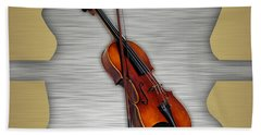 Violin Collection Beach Towel
