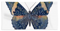 89 Red Cracker Butterfly Beach Sheet