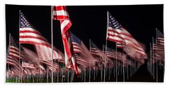 9-11 Flags Beach Towel by Gandz Photography