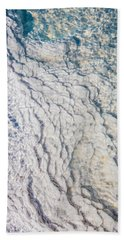 Silica Deposits In Water By The Beach Towel
