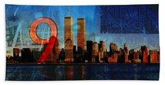911 Never Forget Beach Sheet