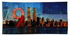 911 Never Forget Beach Towel