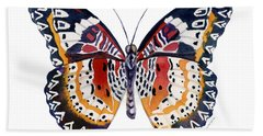 94 Lacewing Butterfly Beach Towel