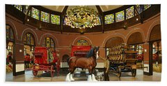 St. Louis Clydesdale Stables Beach Towel
