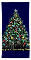 A Bedazzling Christmas Beach Towel
