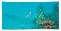 A Bird's Eye View Beach Towel