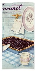 A Blueberry Tart Beach Towel