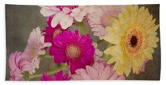 A Bouquet Of Gerbera Daisies Beach Towel