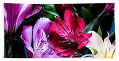 A Bouquet Of Peruvian Lilies Beach Sheet