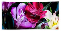A Bouquet Of Peruvian Lilies Beach Towel