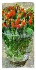 A Bouquet Of Tulips Beach Sheet by Dragica  Micki Fortuna
