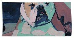 A Bulldog In Love Beach Towel