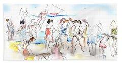 A Busy Day At The Beach Beach Sheet
