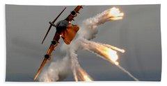 A C-17 Globemaster IIi Releases Flares Beach Sheet