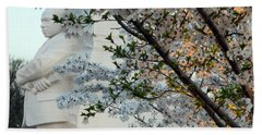 Beach Sheet featuring the photograph A Cherry Blossomed Martin Luther King by Cora Wandel