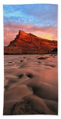 Beach Towel featuring the photograph A Chocolate Milk River by Ronda Kimbrow