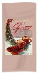 A Christmas Gourmet Cover Beach Towel