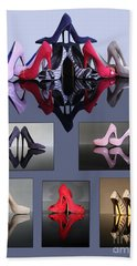 A Collection Of Stiletto Shoes Beach Towel