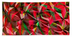 Colorful Shapes Blend Beach Towel by Kellice Swaggerty