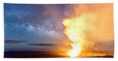A Cosmic Fire Beach Towel