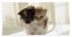 A Cup Of Cuteness Beach Towel