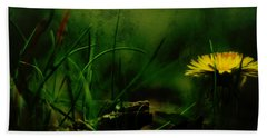 Beach Sheet featuring the photograph A Darkness Befalls The Dandelion by Rebecca Sherman