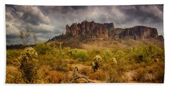 A Day At The Superstitions  Beach Towel