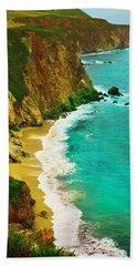 A Day On The Ocean Beach Towel